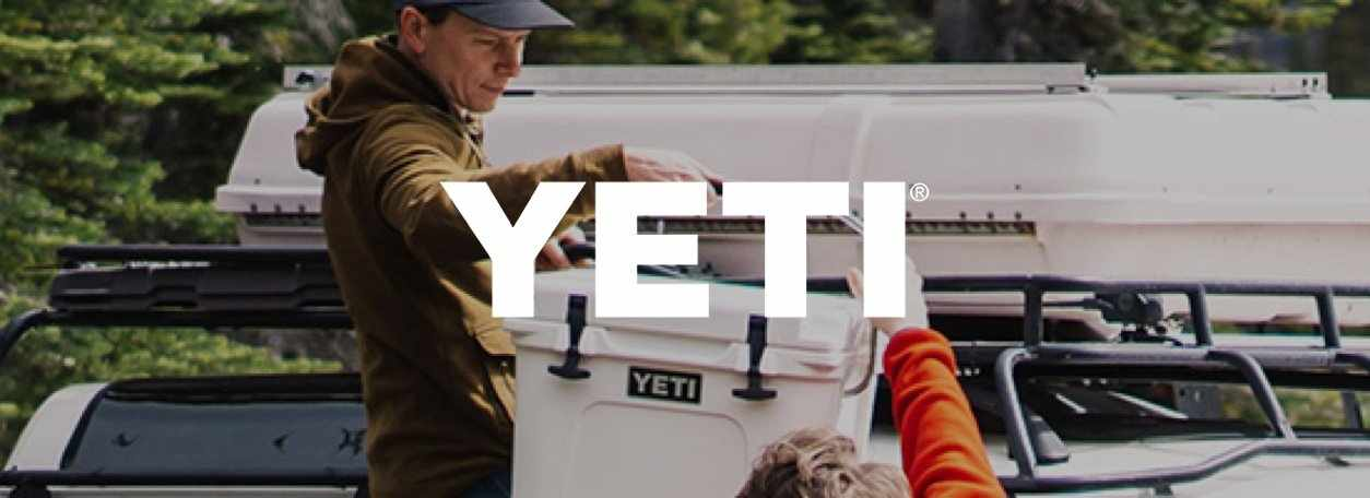 Person holding YETI cooler