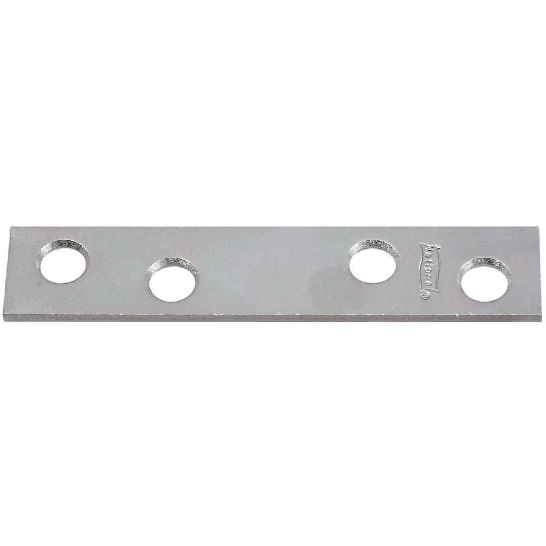 National Catalog 118 3 In. x 5/8 In. Zinc Steel Mending Brace (4-Count) Image 1