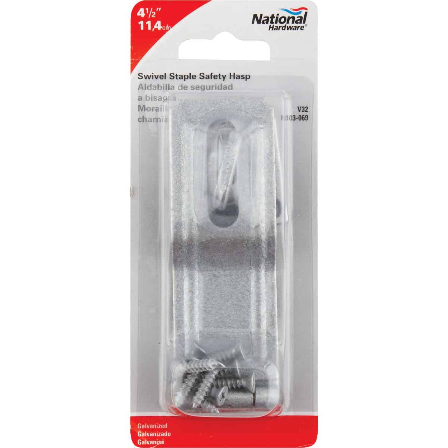 National 4-1/2 In. Galvanized Swivel Safety Hasp Image 2