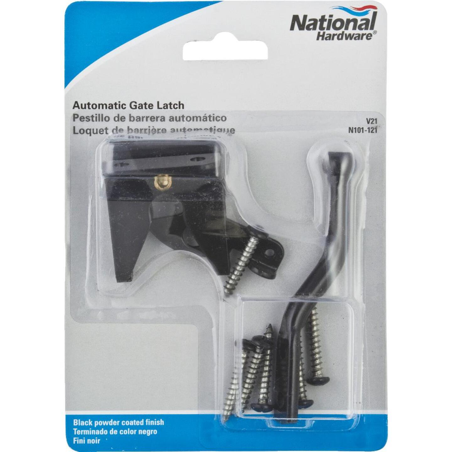 National Black Steel Automatic Gate Latch Image 2