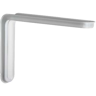 Knape & Vogt Slim-Line 12 In. D. x 7.75 In. H. White Steel L Bracket