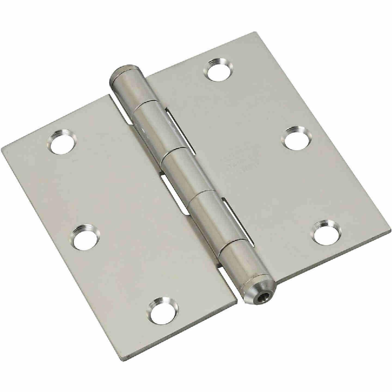 National 3-1/2 In. Square Stainless Steel Door Hinge Image 1