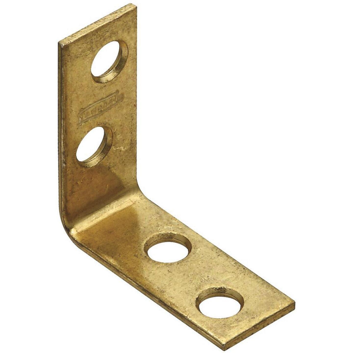 National Catalog V115 1-1/2 In. x 5/8 In. Brass Steel Corner Brace (4-Count) Image 1