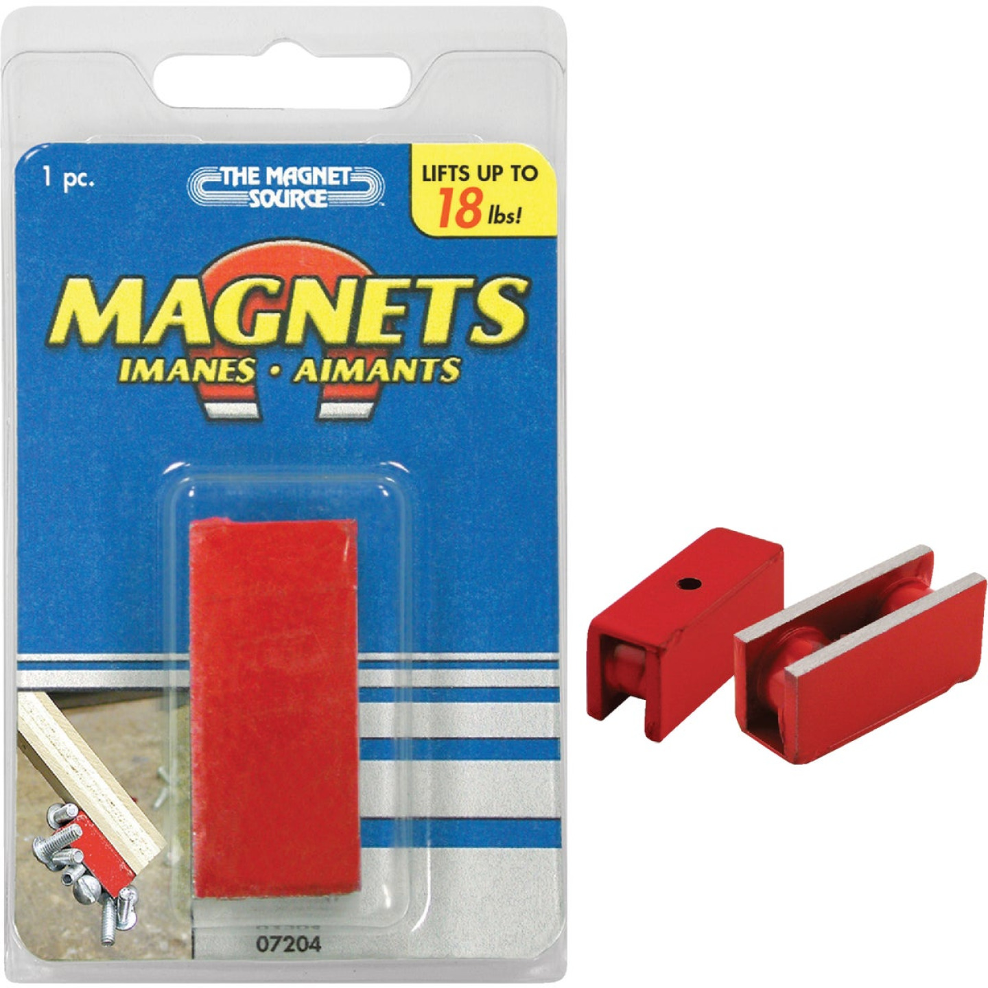 Master Magnetics 18 Lb. Holding and Retrieving Magnet Image 1