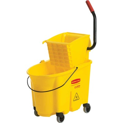 Rubbermaid Commercial WaveBrake 35 Qt. Side Press Combo Mop Bucket