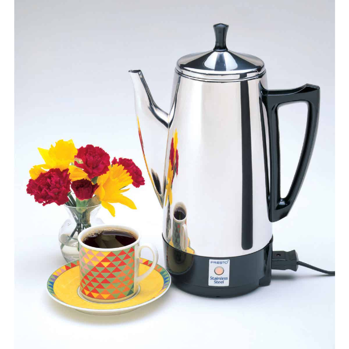 Presto 2 To 12 Cup Stainless Steel Electric Coffee Percolator Image 2