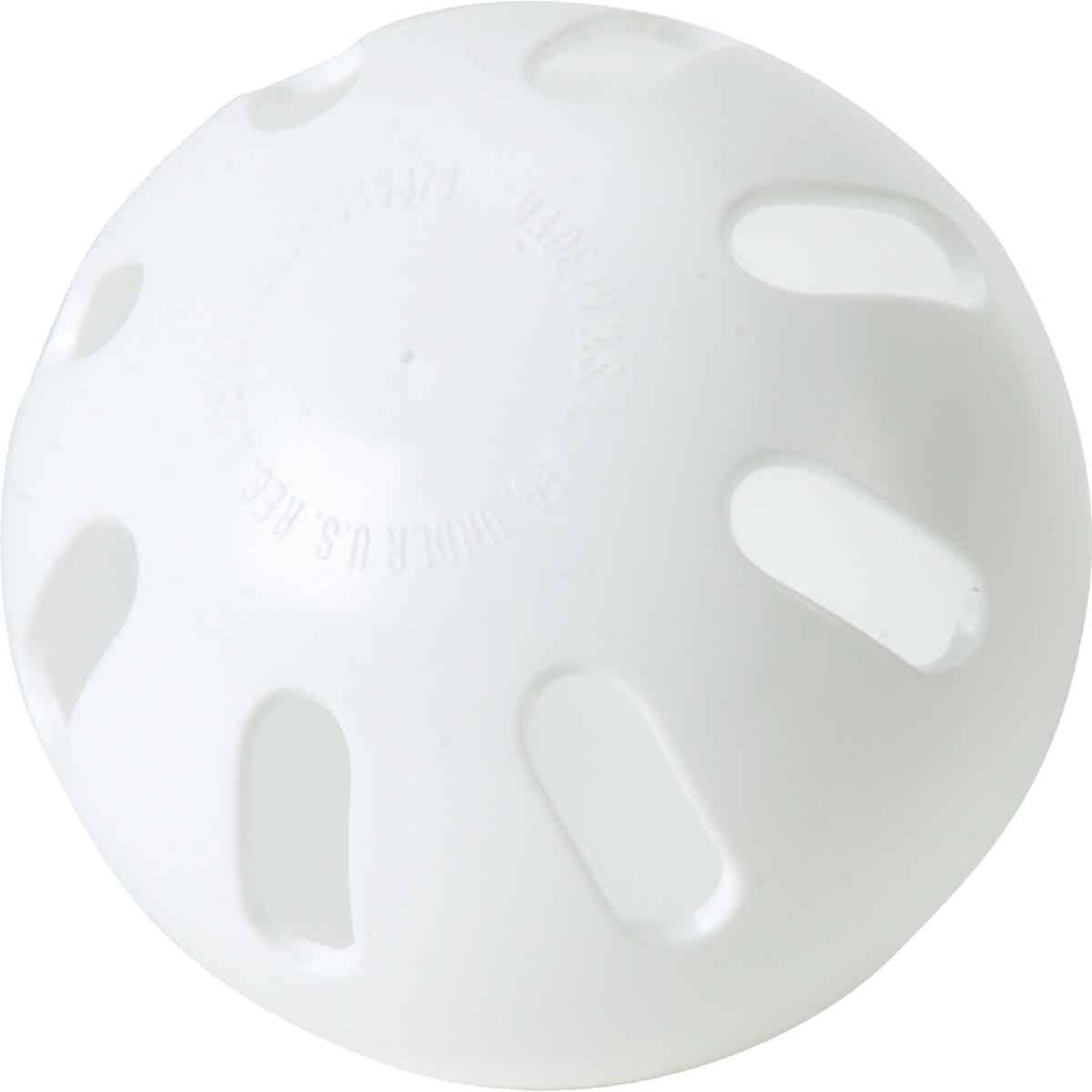 Regulation Size White Wiffle Ball Image 1